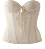 背中の開いたドレスに対応ブライダルインナー|バックレスビスチェ